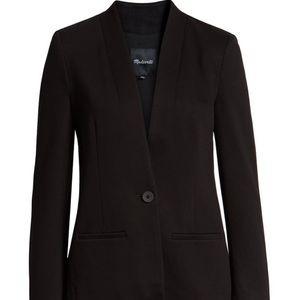 NWT!! Madewell single button, black blazer